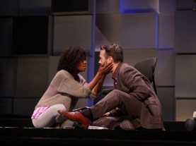 """""""Smart People"""" by Lydia Diamond, at Kenny Leon's True Colors Theatre Company in Atlanta, through Aug. 7. Pictured: Danielle Deadwyler and Joe Knezevich."""