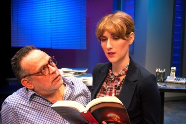 """Speed-the-Plow"" by David Mamet, at B Street Theatre in Sacramento, Calif., through Nov. 6. Pictured: Dave Pierini and Stephanie Altholz."