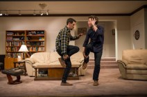 """""""Straight White Men"""" by Young Jean Lee, at Steppenwolf Theatre in Chicago, through March 19. Pictured: Ryan Hallahan and Madison Dirks. (Photo by Michael Brosilow)"""