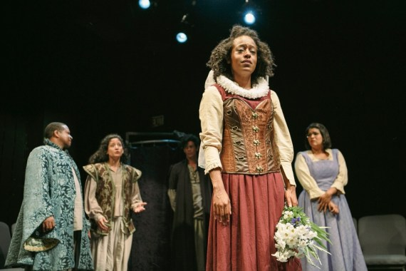 """""""The Taming of the Shrew"""" by William Shakespeare, at New Orleans Shakespeare Festival at Tulane, through June 18. Pictured: Donald Lewis, Jessica Lozano, Phil Yiannopoulos, Devyn Tyler, and Marie Becnel. (Photo by Jason Kruppa)"""