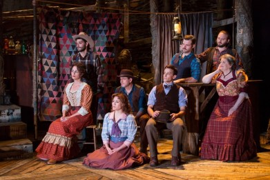 """""""The Ballad of Little Jo,"""" by Mike Reid, Sarah Schlesinger, and John Dias, at Two River Theater in Red Bank, N.J., through June 25. (Photo by T Charles Erickson)"""