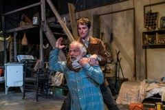 """""""The Caretaker"""" by Harold Pinter, at the Wilbury Theatre Groupin Providence, R.I., through Oct. 7. Pictured: Josh Short and Richard Donelly. (Photo by James Lastowski)"""