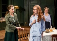 """""""The Children's Hour"""" by Lillian Hellman, at Sandra Feinstein-Gamm Theatre, in Pawtucket, R.I., through Feb. 12. Pictured: Madeleine Lambert, Kate Fitzgerald, and Wendy Overly. (Photo by Peter Goldberg)"""