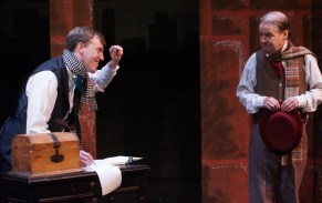 """""""The Chimes: A Goblin Story,"""" adapted by John Hurley from Charles Dickens, at Road Less Traveled Productions in Buffalo, N.Y., through Dec. 18. Pictured: Steve Brachmann and Gerry Maher. (Photo by Gina Gandolfo-Lopez)"""