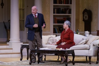 """""""The Cocktail Hour"""" by A.R. Gurney, at Florida Repertory Theatre in Fort Myers, Fla., through Jan. 27. Pictured: Peter Thomasson and Carrie Lund."""