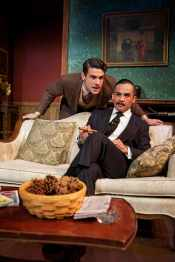 """""""The Mousetrap"""" by Agatha Christie, at Shotgun Players in Berkeley, Calif. through Jan. 24. Pictured: Adam Magill and Alex Rodriguez. (Photo by Pak Han)"""