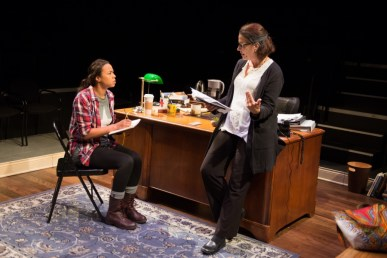 """""""The Niceties"""" by Eleanor Burgess, at Contemporary American Theater Festival in Shepherdstown, W. Va., through July 30. Pictured: Margaret Ivey and Robin Walsh. (Photo by Seth Freeman)"""