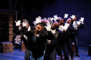 """""""The Scottsboro Boys,"""" by David Thompson, John Kander, and Fred Ebb, at Porchlight Music Theatre in Chicago through March 12. (Photo by Kelsey Jorissen)"""