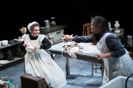 """""""The Second Girl"""" by Ronan Noone, at the Contemporary American Theater Festival in Shepherdstown, W.Va., through July 31. Pictured: Cathryn Wake and Jessica Wortham. (Photo by Seth Freeman)"""