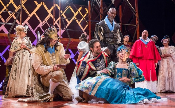 """""""The Three Musketeers,"""" adapted by Ken Ludwig from Alexandre Dumas, at the Pennsylvania Shakespeare Festival in Center Valley, Pa., through Aug. 6. (Photo by Lee A. Butz)"""