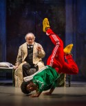 """""""Twist Your Dickens, or Scrooge You!"""" by Peter Gwinn and Bobby Mort, a production of the Second City at the Goodman Theatre in Chicago, through Dec. 27. Pictured: Francis Guinan and Travis Turner. (Photo by Liz Lauren)"""