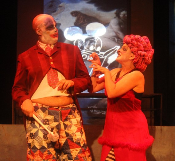 """""""UBU 48"""" by James Rick, at Firehouse Theatre in Richmond, Va., through Oct. 22. Pictured: Foster Solomon and Kim Jones Clark."""