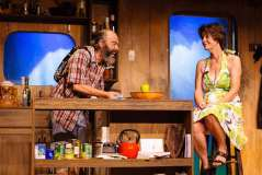 Paul Potenza and Angela Bond in Jobsite Theater's production of 'Annapurna,' by Sharr White. (Photo by Crawford Long)