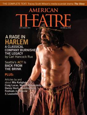 De Shields on the cover of the the July/August 2004 issue of 'American Theatre.'