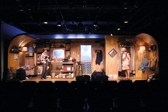 Angela Bond and Paul Potenza in 'Annapurna' by Sharr White at Jobsite Theatre. (Photo by Brian Smallheer)