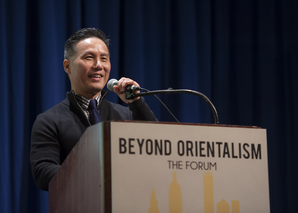 B.D. Wong gives the keynote speech at the Beyond Orientalism public forum. (Photo by Eric Bondoc Photography)