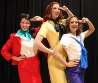 """Boeing Boeing"" by Marc Camoletti, at Greenbriar Valley Theatre in Lewisburg, W. Va., through May 23. Pictured: Kim Morgan Dean, Amanda Huxtable and Sheira Stein. (Photo courtesy of Greenbriar Valley Theatre)"
