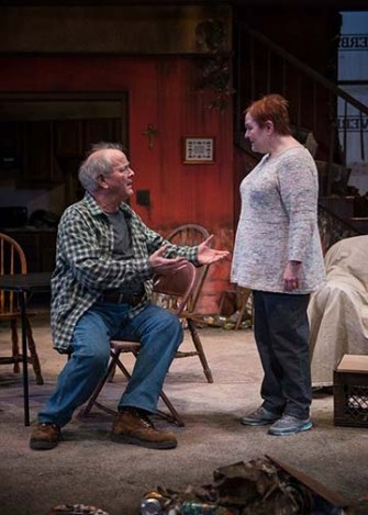 """By the Water"" by Sharyn Rothstein, at Northlight Theatre in Skokie, Ill., through April 23. Pictured: Francis Guinan and Penny Slusher. (Photo by Michael Brosilow)"