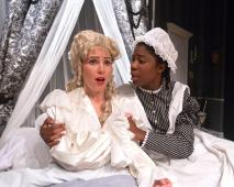 """""""By the Way, Meet Vera Stark"""" by Lynn Nottage, at the Long Beach Playhouse in Long Beach Calif., through May 9. Pictured: Sierra Marcks and Adanna Kenlow. (Photo by Michael Hardy)"""
