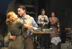 """""""Dancing at Lughnasa"""" by Brian Friel at Palm Beach Dramaworks in 2013. Pictured: Gretchen Porro, Cliff Burgess, Julie Rowe and Meghan Moroney. (Photo by Alicia Donelan)"""