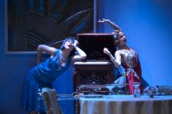 """""""Fallen Angels"""" by Noël Coward, at TheatreWorks Silicon Valley in Palo Alto, Calif., through June 28. Pictured: Rebecca Dines and Sarah Overman."""