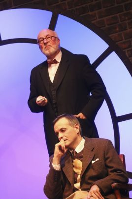 """Freud's Last Session"" by Mark St. Germain, at A.D. Players Theater in Houston through Nov. 8. Pictured: James Belcher and Chip Simmons."