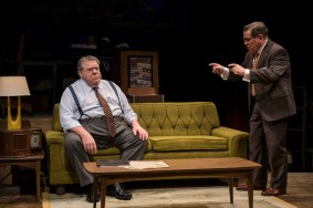 """""""Funnyman"""" by Bruce Graham, at Northlight Theatre in Skokie, Ill., through Oct. 18. Pictured: George Wendt and Tim Kazurinsky. (Photo by Michael Brosilow)"""