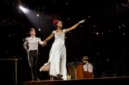 "Lucas Steele and Denée Benton in ""Natasha, Pierre & the Great Comet of 1812."" (Photo by Chad Batka)"