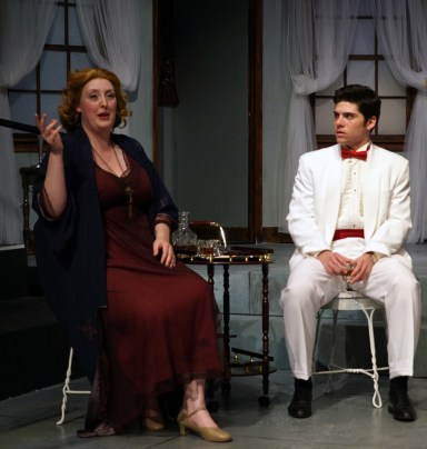 """Grey Gardens"" by Doug Wright, Scott Frankel and Michael Korie, at Custom Made Theatre Co. in San Francisco through June 21. Pictured: Heather Orth and Nathan Brown."