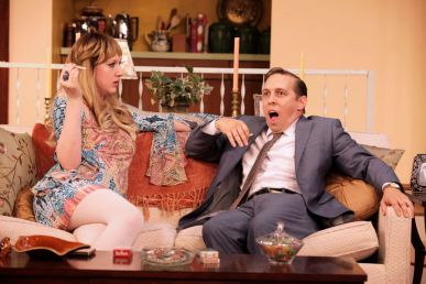 """Last of the Red Hot Lovers"" by Neil Simon, at Virginia Repertory Theatre in Richmond, Va., through Aug. 30. Pictured: Maggie Roop and Scott Wichmann. (Photo by Jay Paul)"