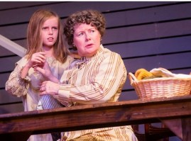 """""""The Miracle Worker"""" by William Gibson, at the A.D. Players Theater House in Houston through June 21. Pictured: McKay Lawless and Patty Tuel Bailey."""