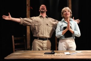 "Geoffrey Nolan and Lorri Holt in ""Mount Misery"" by Andrew Saito at Cutting Ball Theater in San Francisco through June 21, 2015. (Photo by Chase Ramsey)"