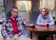 """""""Outside Mullingar"""" by John Patrick Shanley, at Peninsula Players Theatre in Fish Creek, Wis., through Sept. 6. Pictured: Jay Whittaker and Maggie Kettering."""