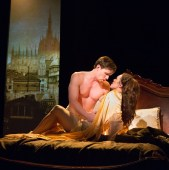 """""""Passion"""" by James Lapine and Stephen Sondheim, at the Arden Theatre Company in Philadelphia through June 28. Pictured: Ben Michael and Jennie Eisenhower. (Photo by Mark Garvin)"""