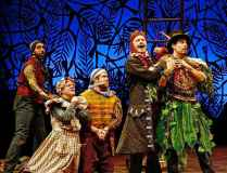 """""""Peter and the Starcatcher"""" by Rick Elise, a coproduction of Cincinnati Playhouse in the Park and Milwaukee Repertory Theatre, where it's running through May 24. Pictured: José Restrepo, Andy Paterson, Nick Vannoy, Tom Story and Arturo Soria. (Photo by Sandy Underwood)"""