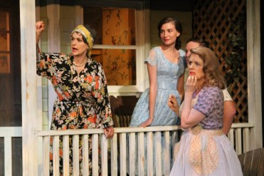 """Picnic"" by William Inge, at the Antaeus Company in Los Angeles, through Aug. 16. Pictured: Gigi Bermingham, Jordan Monaghan, Ross Philips and Eve Gordon. (Photo by Karianne Flaathen)"