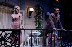 """Private Lives"" by Noel Coward, at Geva Theatre in Rochester, N.Y., through April 16. Pictured: Jenny Leona and David Macdonald. (Photo by Ron Heerkens Jr.)"