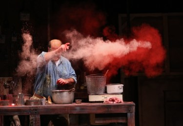 """Red"" by John Logan, at Geva Theatre Center in Rochester, N.Y., through Nov. 15. Pictured: Stephen Caffrey as Mark Rothko. (Photo by Ken Huth)"