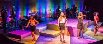 """""""Sixties Chicks Too,"""" an original Harlequin musical, at Harlequin Productions in Olympia, Wash. through July 19. Pictured: Amy Elizabeth Shephard, Gretchen Boyt, LaVon M. Hardison, and Stacie Calkins."""