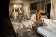 "Matthew Davis and Deborah Bowman in ""A Streetcar Named Desire"" at Serenbe Playhouse. (Photo by BreeAnne Clowdus)"