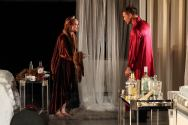 "Deborah Bowman and Matthew Davis in ""A Streetcar Named Desire"" at Serenbe Playhouse. (Photo by BreeAnne Clowdus)"