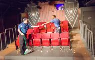 """""""The Flick"""" by Annie Baker, at Threshold Repertory Theatre in Charleston, S.C., through May 17. Pictured: Kody Roza and Maurice McPherson."""