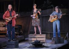 """""""The Way West"""" by Mona Mansour, at Marin Theatre Company in Mill Valley, Calif., through May 10. Pictured: Anne Darragh, Kathryn Zdan and Rosie Hallett. (Photo by Ed Smith)"""