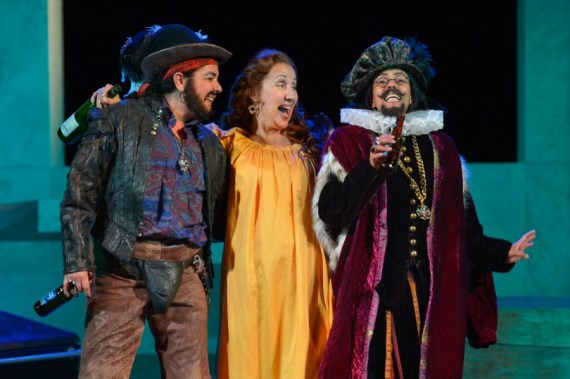 """""""Twelfth Night"""" by William Shakespeare, at California Shakespeare Theater in Orinda, Calif., in 2015. Pictured: Catherine Castellanos, Domenique Lozano and Margo Hall. (Photo by Kevin Berne)"""
