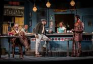 """Alfred Wilson, Ernest Perry Jr., Chester Gregory, Nambi E. Kelley, and Anthony Irons in August Wilson's """"Two Trains Running,"""" at Goodman Theatre. (Photo by Liz Lauren)"""