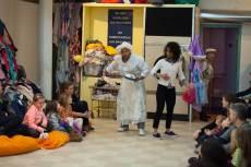 "Che Avende, Danaya Esperanza and Mia Katigbak in ""Washeteria"" at Soho Rep. (Photo by Christopher Ash)"