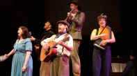 """""""Woody Guthrie's American Song,"""" adapted by Peter Glazer from Woody Guthrie, at the Commonweal Theatre Company in Lanesboro, Minn., through Sept. 28. (Photo by Ana Hagedorn)"""