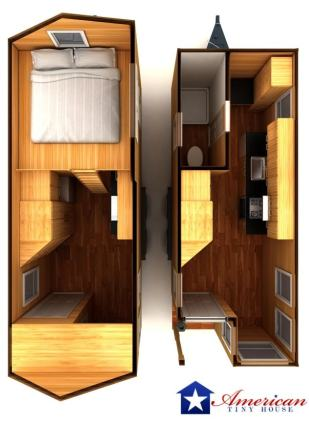 Pensacola American Tiny House Interior Inside Overhead