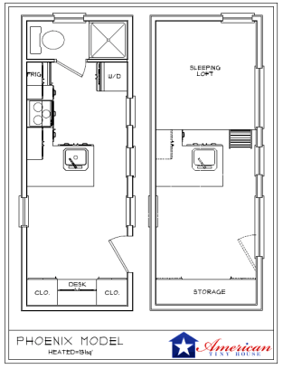 Phoenix American Tiny House Floorplans