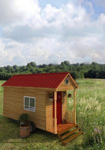 Dallas Exterior American Tiny House Front Porch